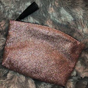 Handbags - Rose Gold Metallic Makeup/Cosmetic Bag